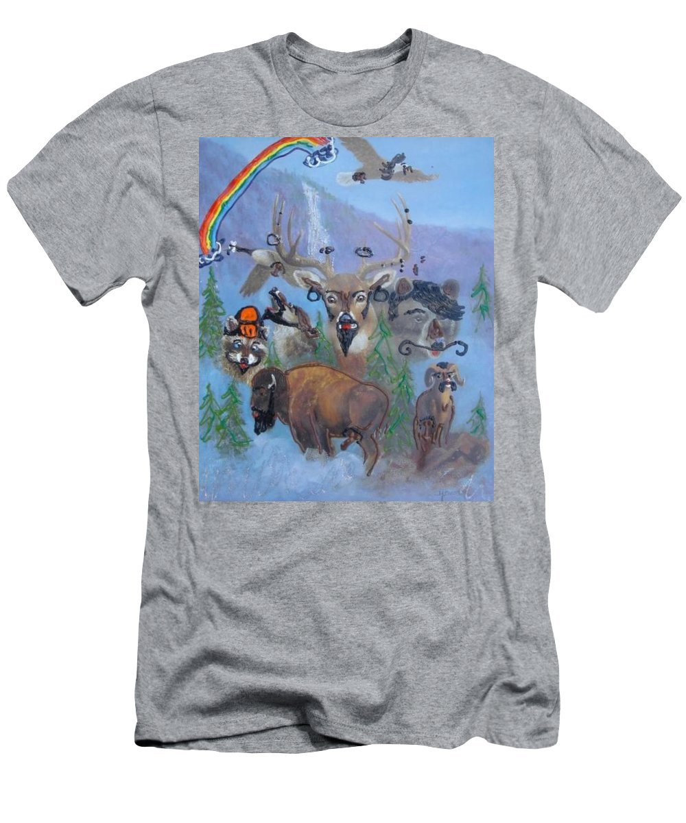 Dear Men's T-Shirt (Athletic Fit) featuring the painting Animal Equality by Lisa Piper