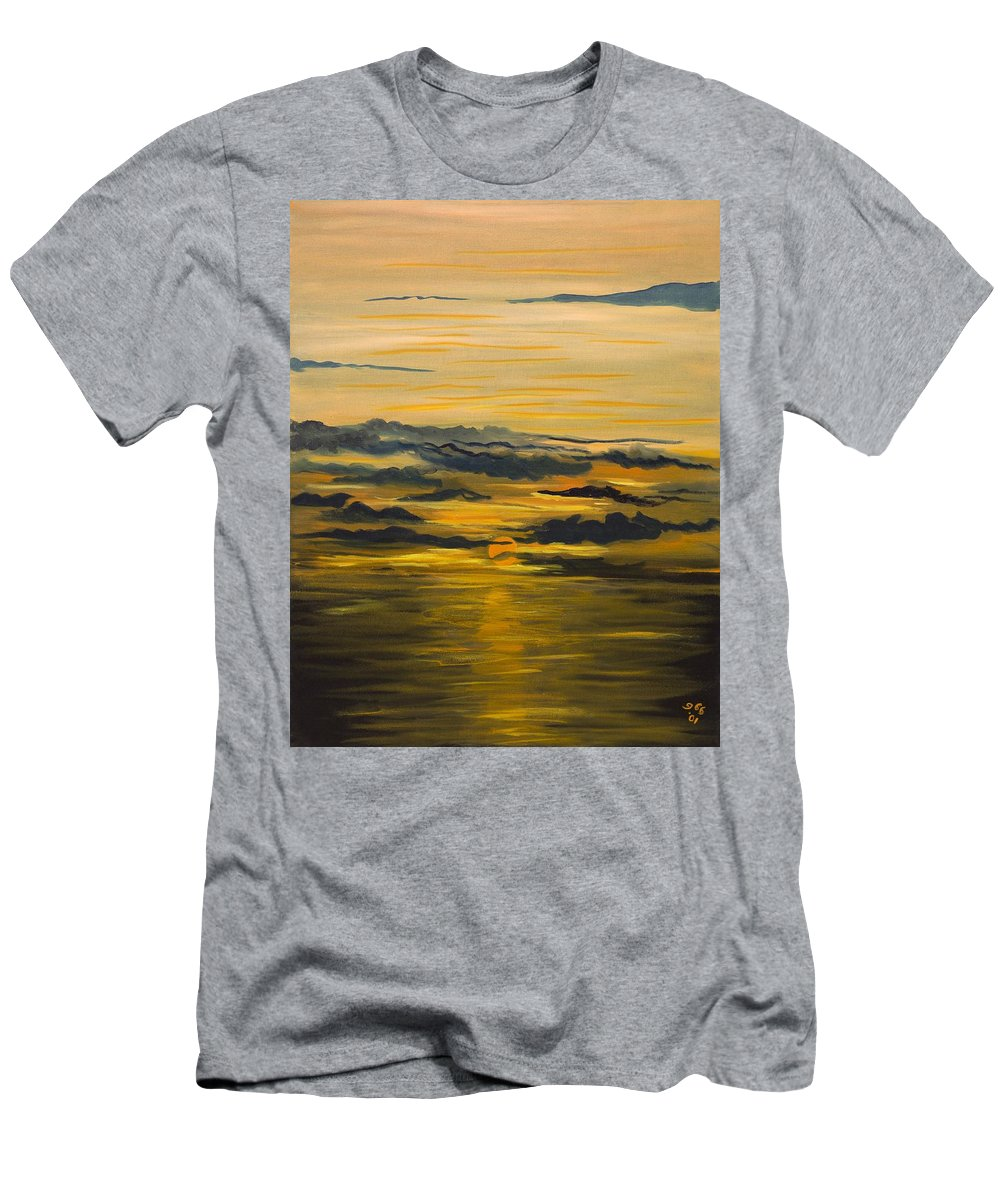 Landscape Men's T-Shirt (Athletic Fit) featuring the painting Another Day by Gladys Berchtold