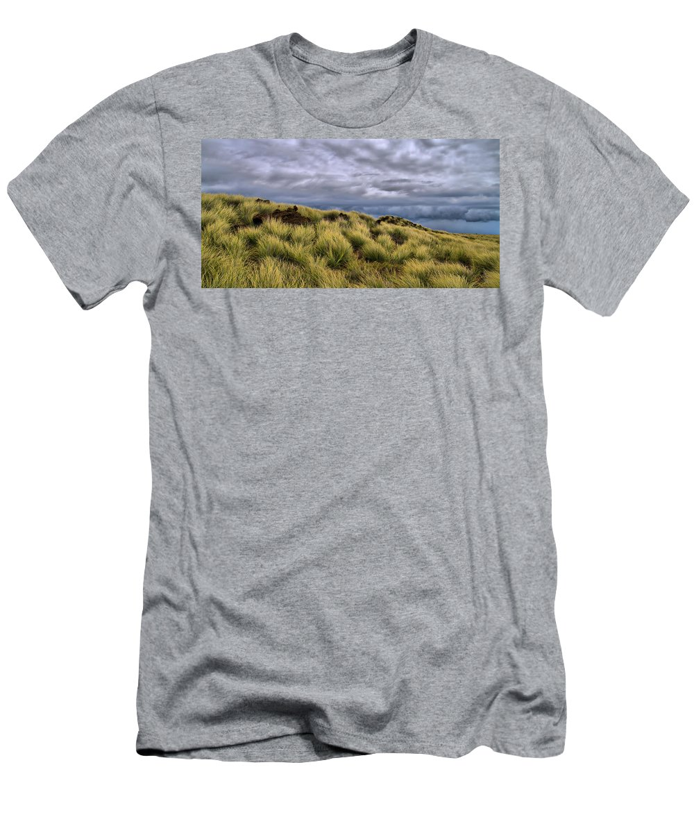 Pasture Men's T-Shirt (Athletic Fit) featuring the photograph Anticipating The Approaching Rain by Dan Sabin