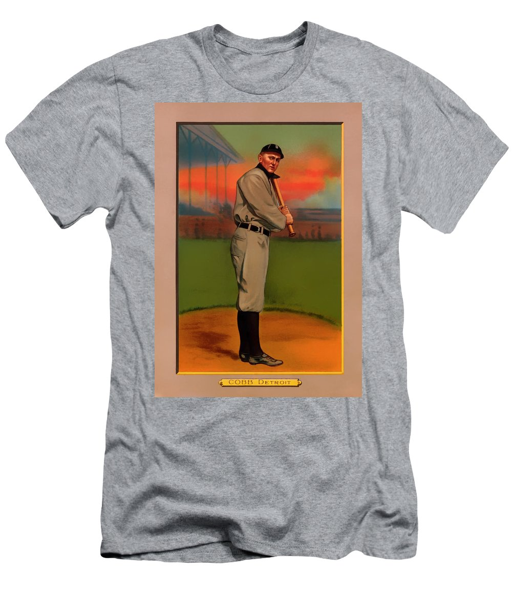 Antique Baseball Card Ty Cobb Mens T Shirt Athletic Fit