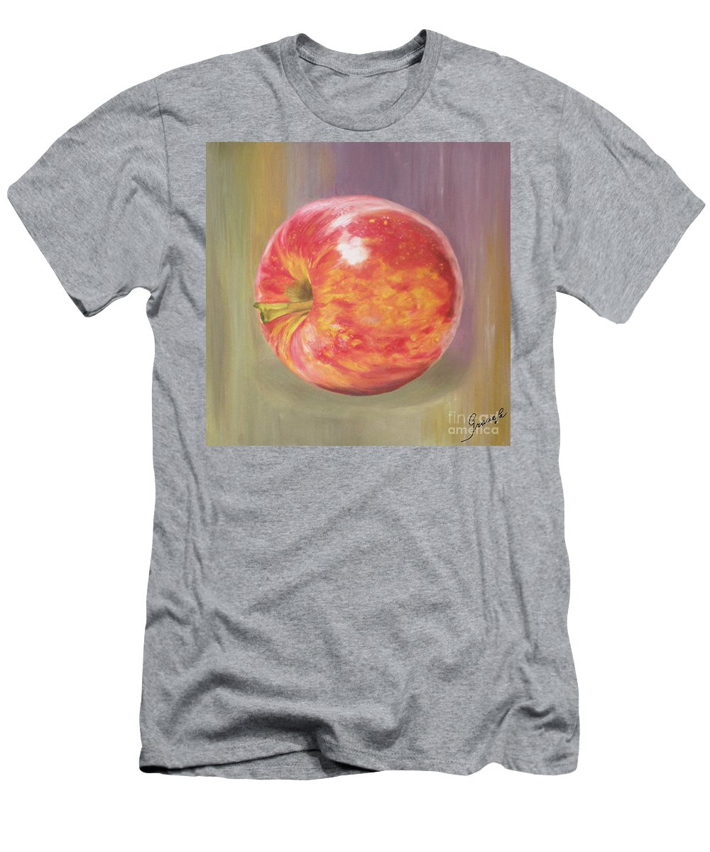 Apple Men's T-Shirt (Athletic Fit) featuring the painting Apple by Graciela Castro