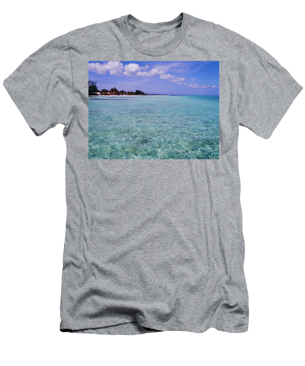 Aqua Men's T-Shirt (Athletic Fit) featuring the photograph Aqua Blue by Carey Chen