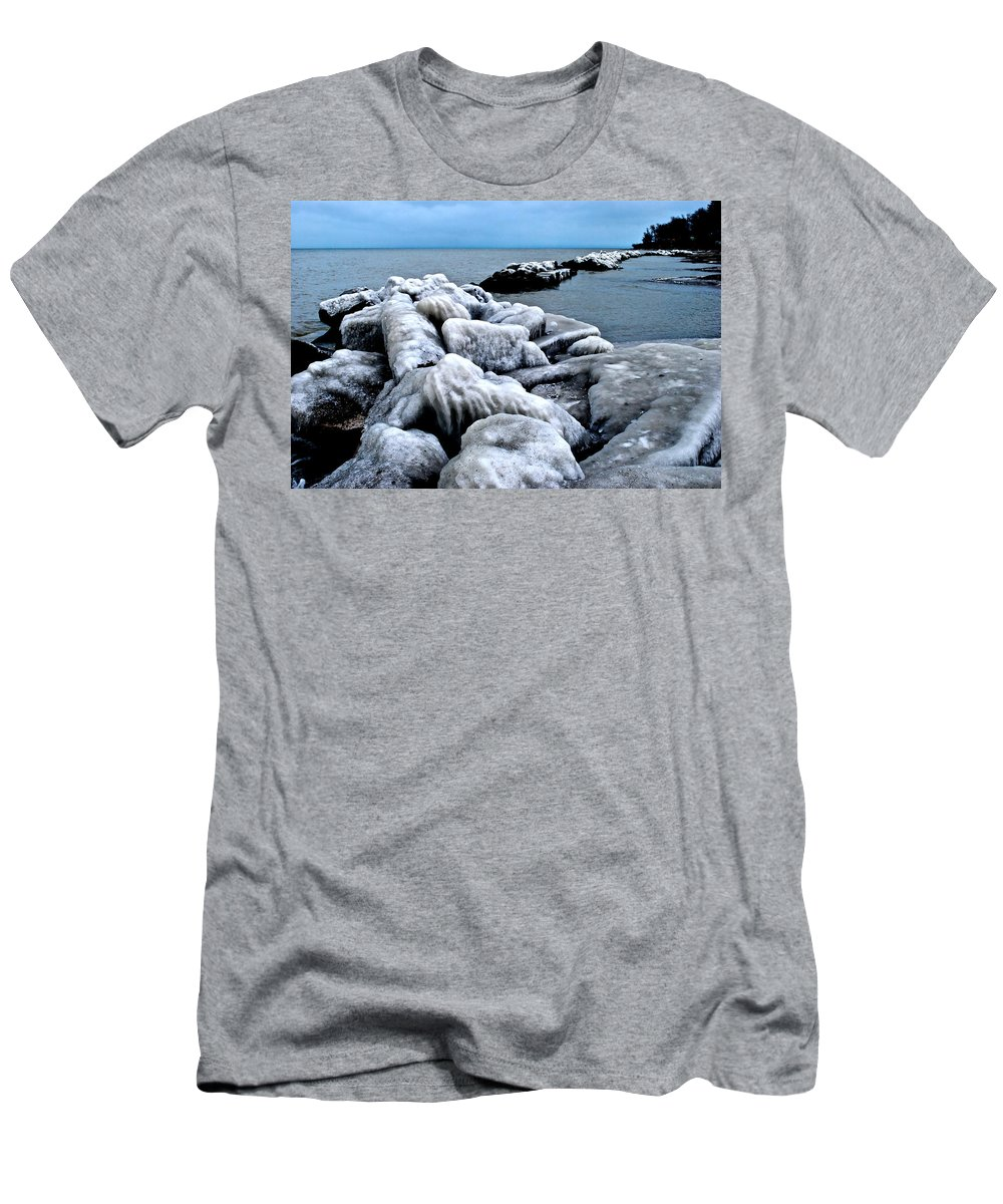 Freezing Men's T-Shirt (Athletic Fit) featuring the photograph Arctic Waters by Frozen in Time Fine Art Photography