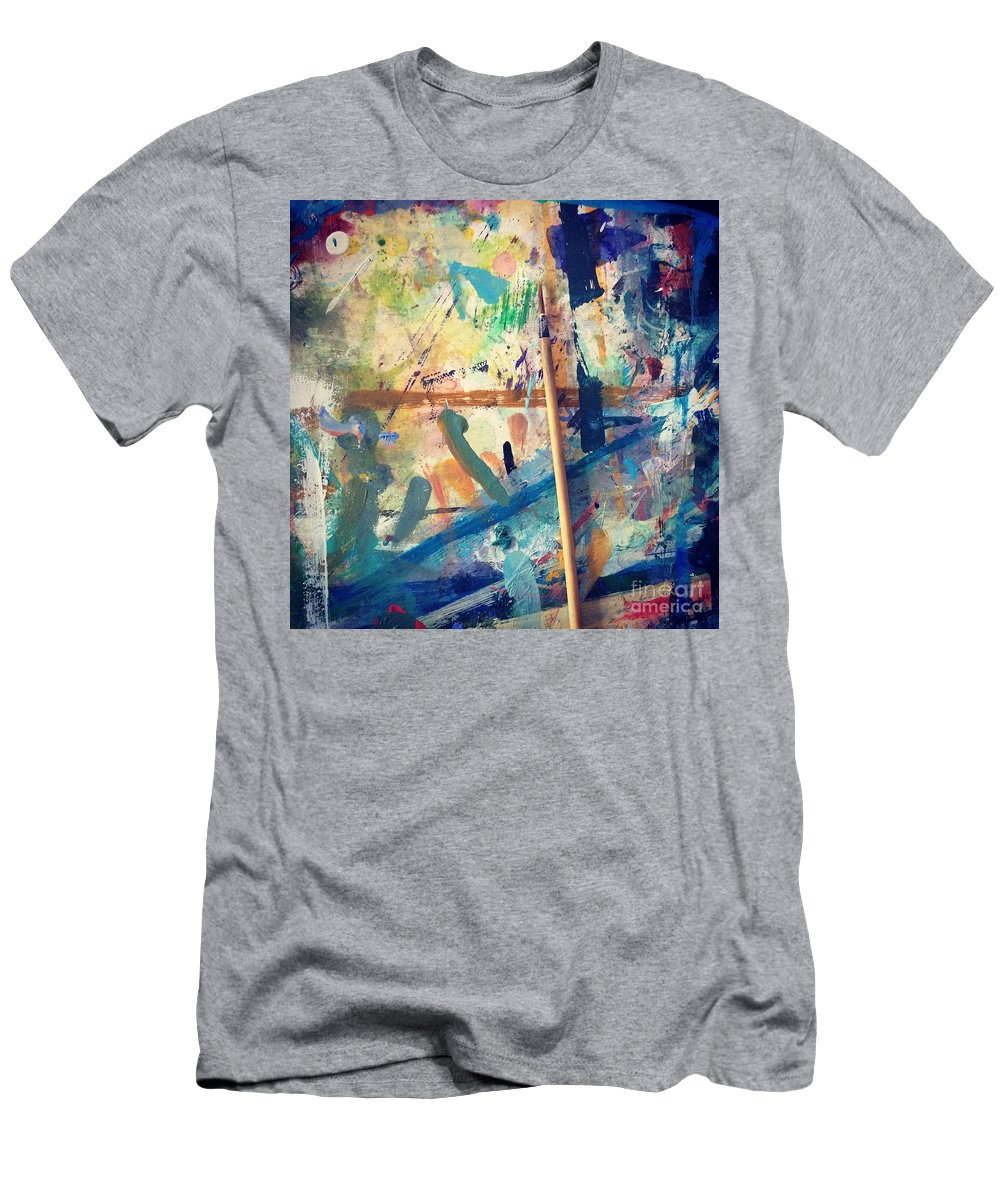 Art Men's T-Shirt (Athletic Fit) featuring the photograph Art Table 7 by Robin Maria Pedrero
