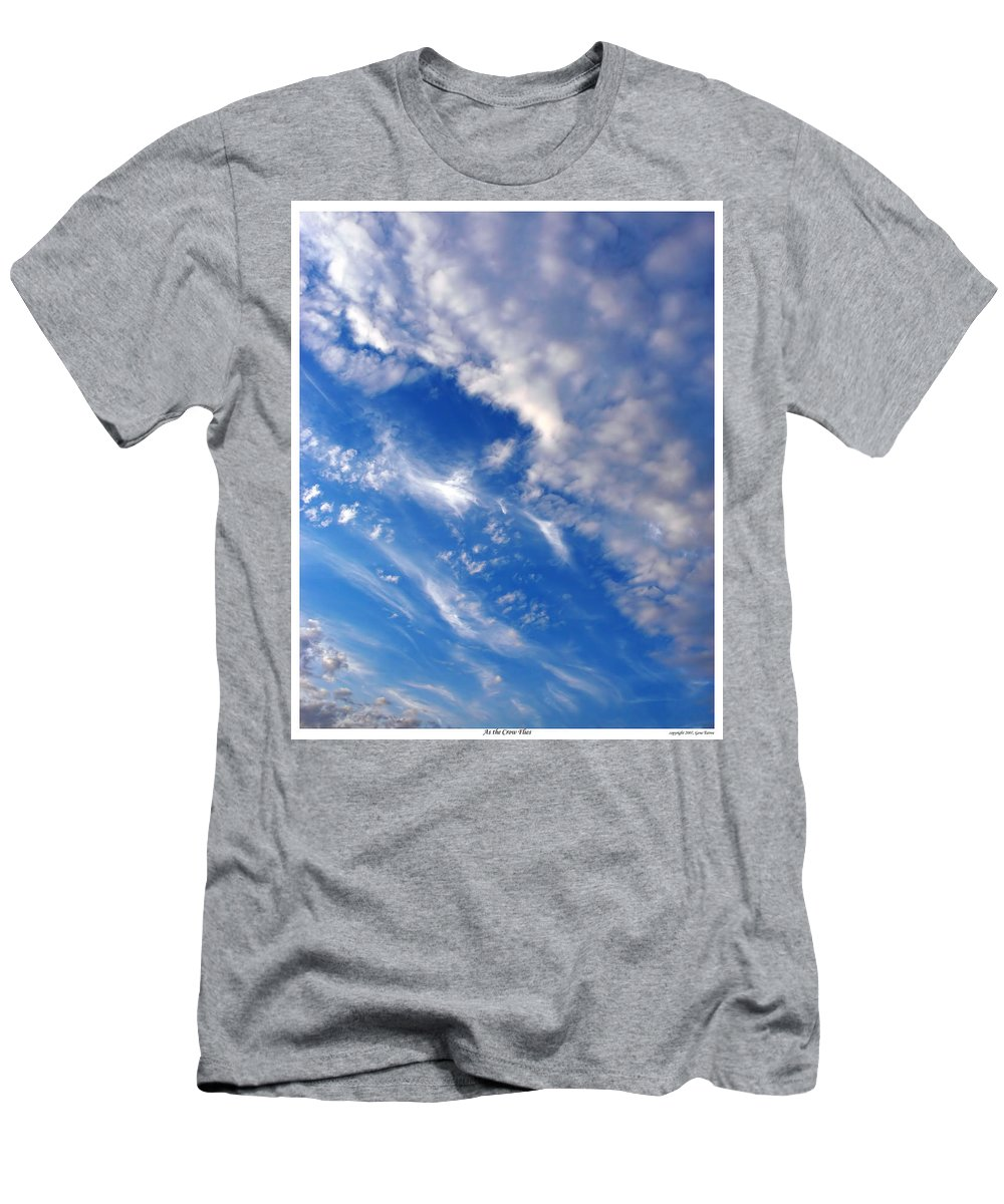 Sky Men's T-Shirt (Athletic Fit) featuring the photograph As The Crow Flies by Gene Tatroe