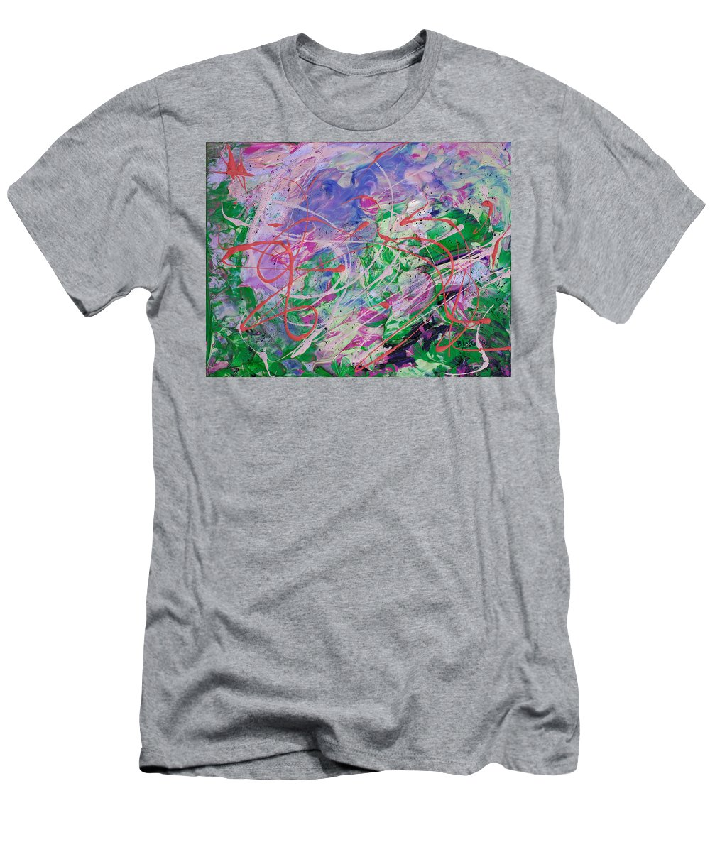 Bold Abstract Men's T-Shirt (Athletic Fit) featuring the painting Ashes In The Wind by Donna Blackhall