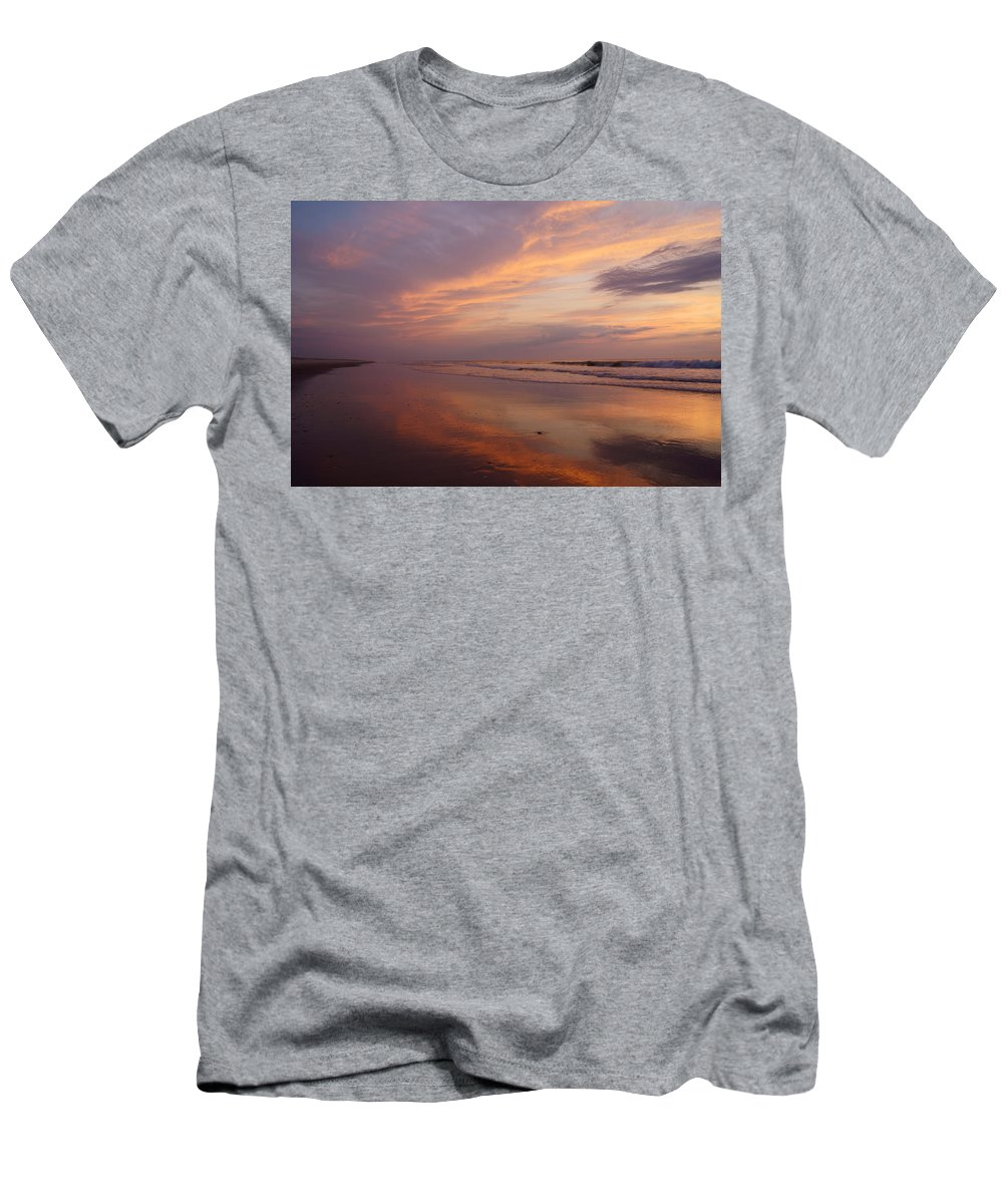 Atlantic Men's T-Shirt (Athletic Fit) featuring the photograph Assateague 1 by Benjamin Reed