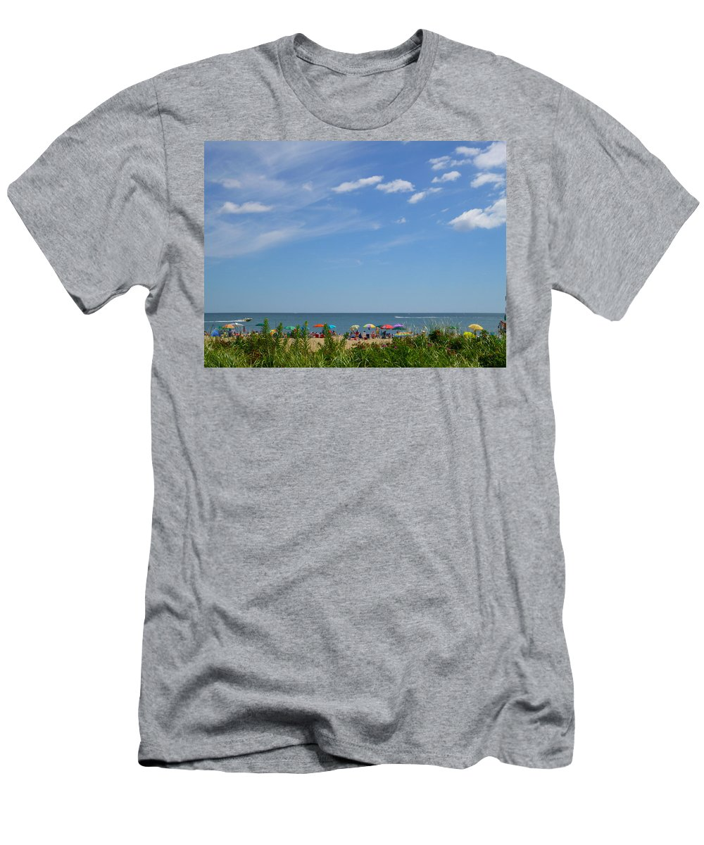 Summer Men's T-Shirt (Athletic Fit) featuring the photograph At The Beach 2 by Ellen Paull