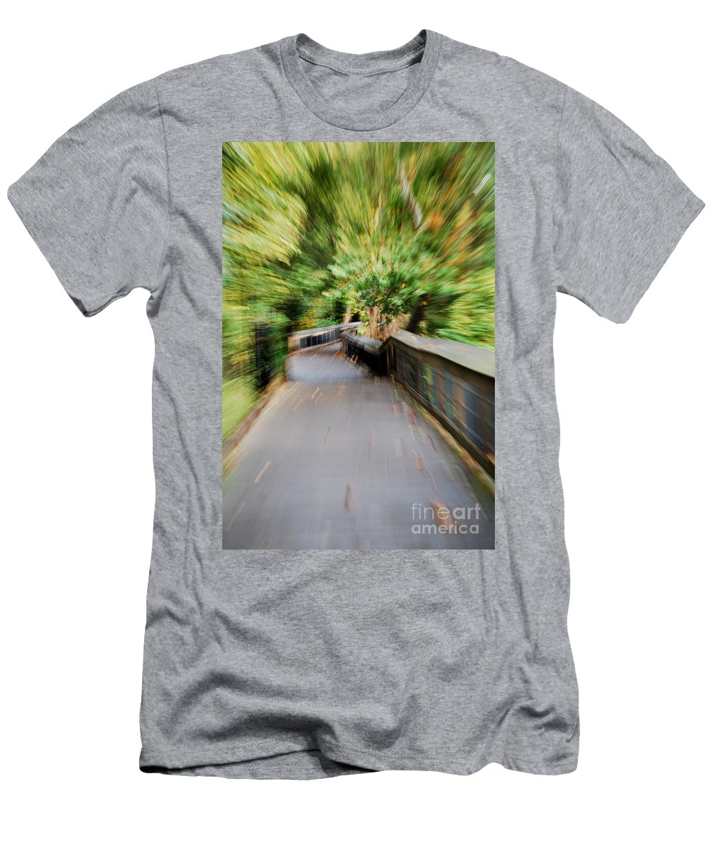 Scenic Tours Men's T-Shirt (Athletic Fit) featuring the photograph At Warp Speed by Skip Willits