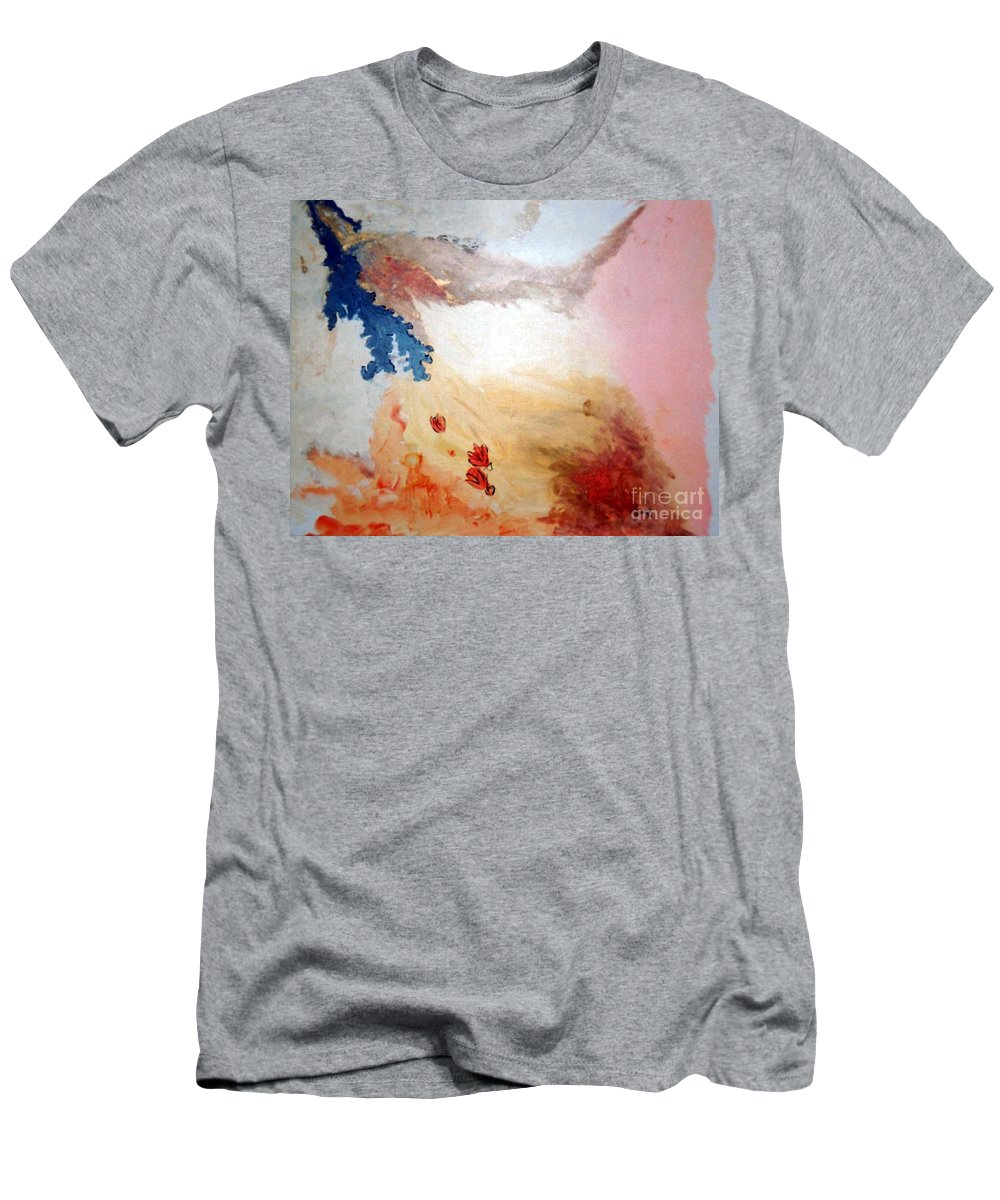 Abstract Men's T-Shirt (Athletic Fit) featuring the painting Autumn by Graciela Castro