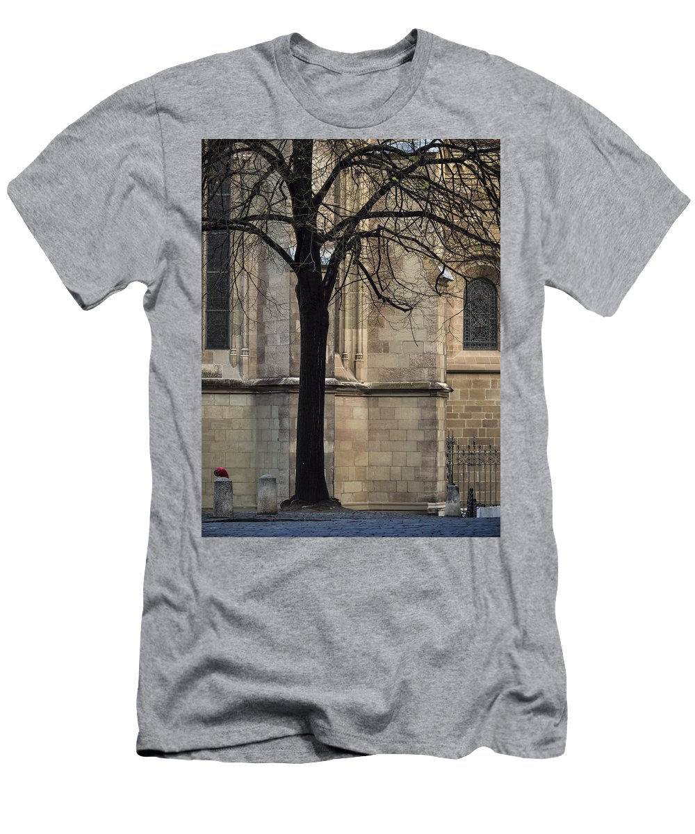 Geneva Men's T-Shirt (Athletic Fit) featuring the photograph Autumn Silhouette by Muhie Kanawati