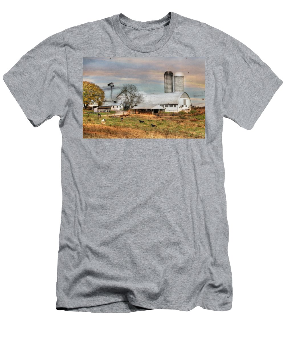 Country Men's T-Shirt (Athletic Fit) featuring the photograph Autumn Wind by Lori Deiter