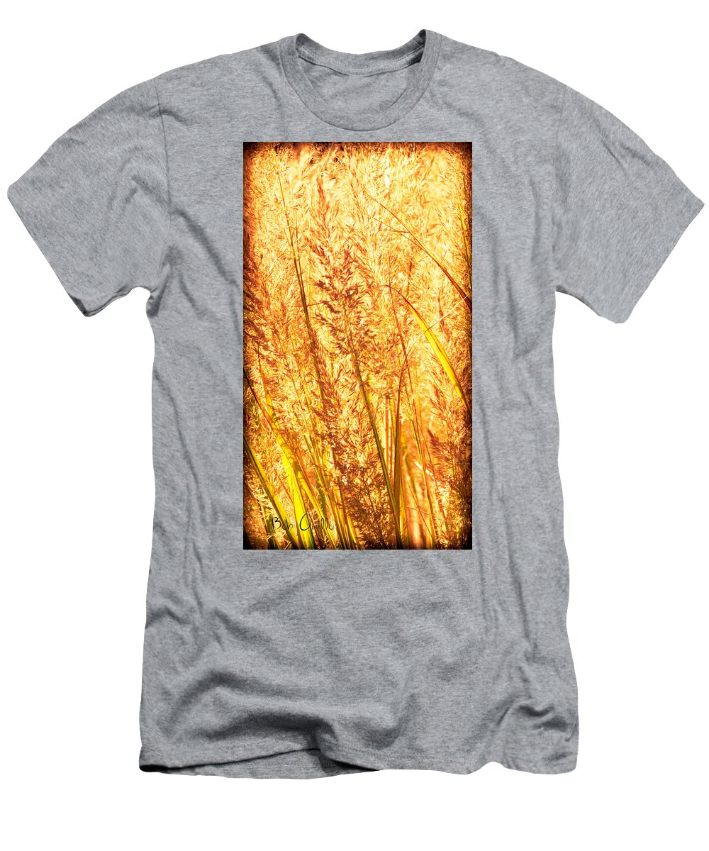 Grass Men's T-Shirt (Athletic Fit) featuring the photograph Autumns Passion by Bob Orsillo