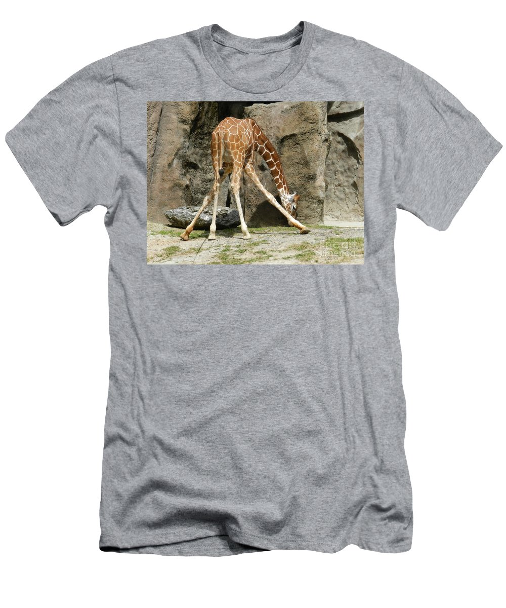 Baby Men's T-Shirt (Athletic Fit) featuring the photograph Baby Giraffe 1 by Heather Jane