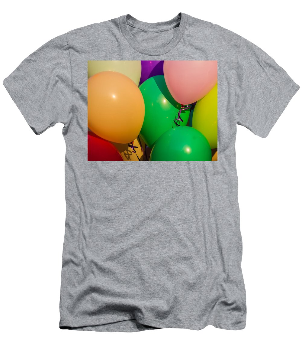 Abstract Men's T-Shirt (Athletic Fit) featuring the photograph Balloons Horizontal by Alexander Senin