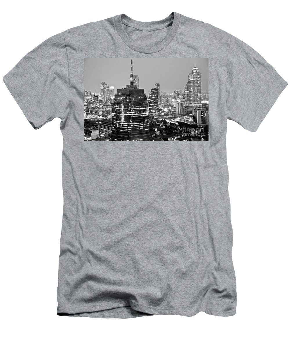 Aerial Men's T-Shirt (Athletic Fit) featuring the photograph Bangkok - Thailand by Luciano Mortula