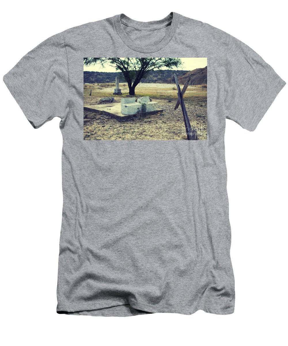 Cemetery Men's T-Shirt (Athletic Fit) featuring the photograph Barren by Erika Weber