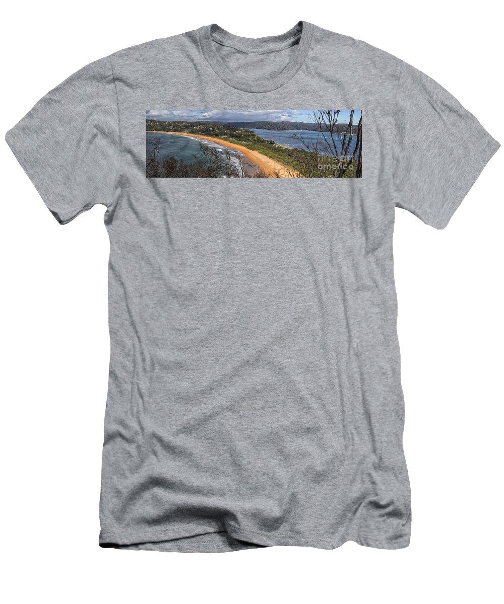Barrenjoey T-Shirt featuring the photograph Barrenjoey panorama by Sheila Smart Fine Art Photography