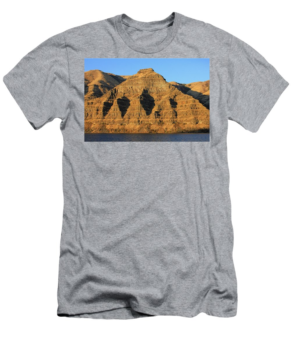 Basalt Group Layers Men's T-Shirt (Athletic Fit) featuring the photograph Basalt Group Layers by Ed Cooper Photography