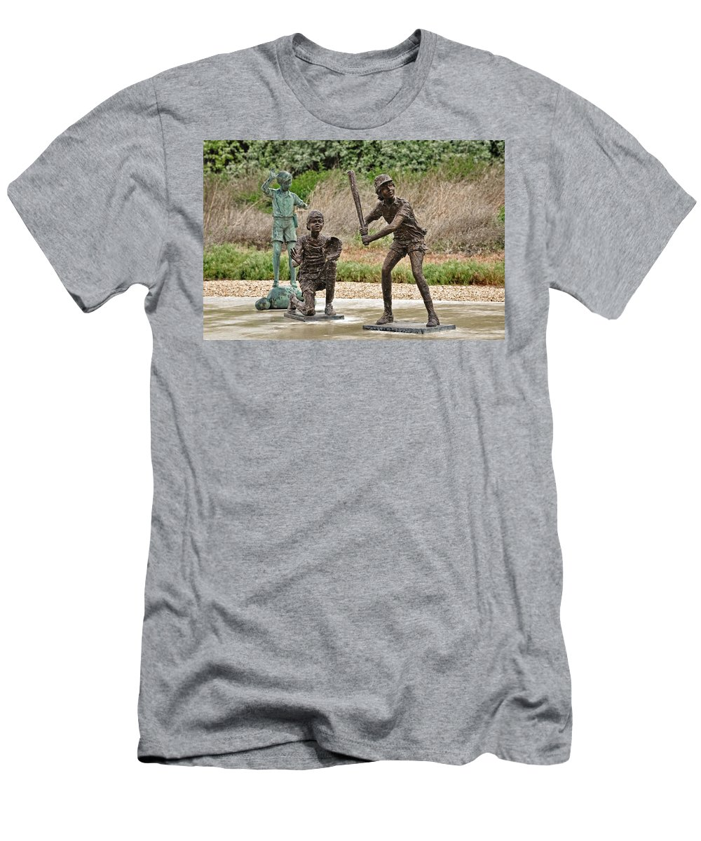 Melba Men's T-Shirt (Athletic Fit) featuring the photograph Batter Up by Image Takers Photography LLC