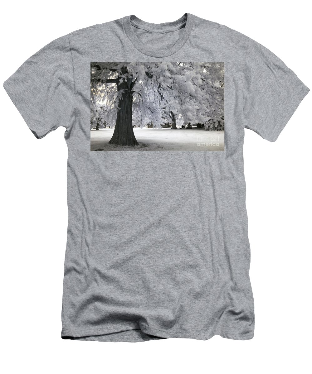 Infrared Men's T-Shirt (Athletic Fit) featuring the photograph Battlefield Sentinel by Paul W Faust - Impressions of Light