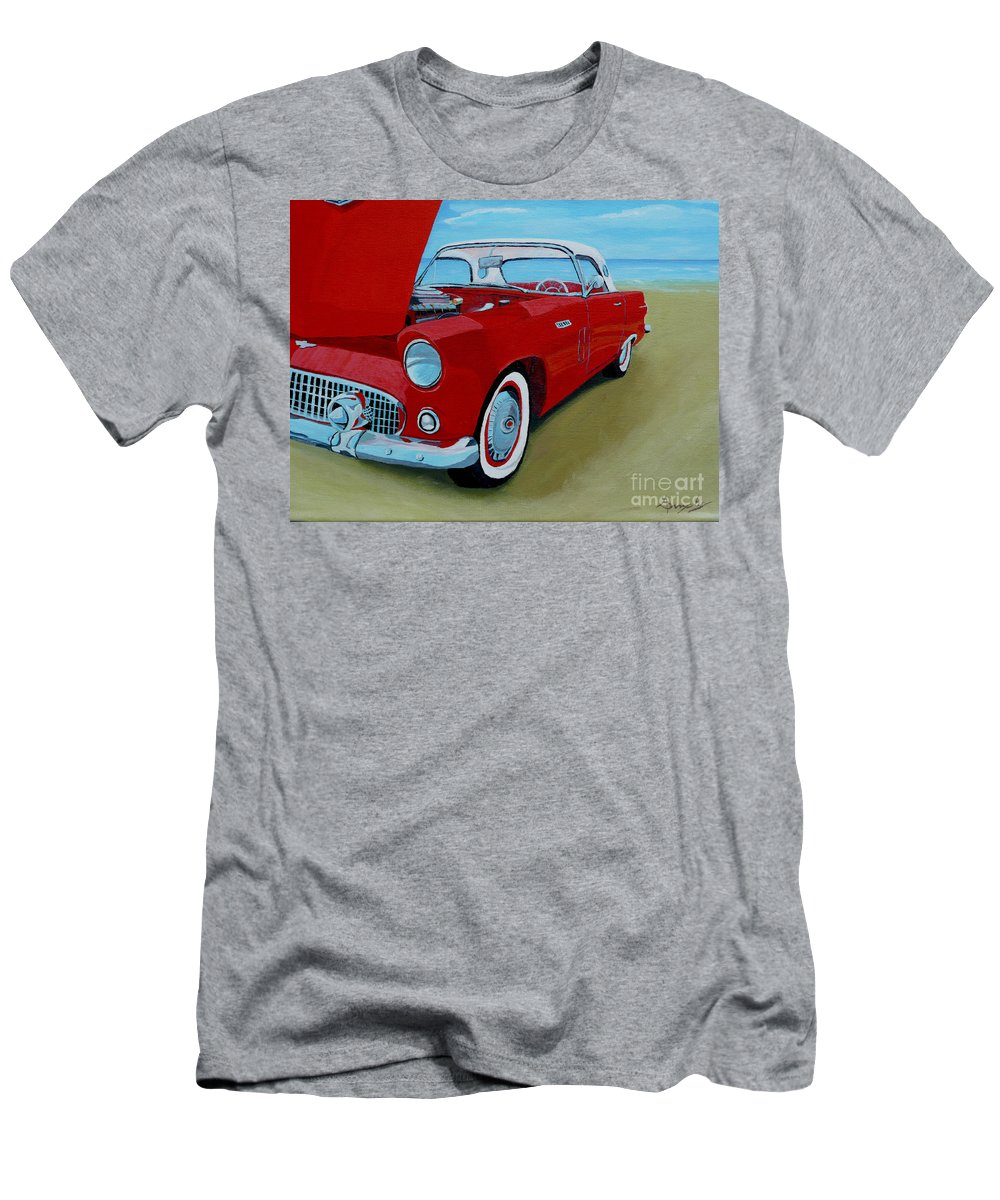 Car Men's T-Shirt (Athletic Fit) featuring the painting Thunder Bird by Anthony Dunphy