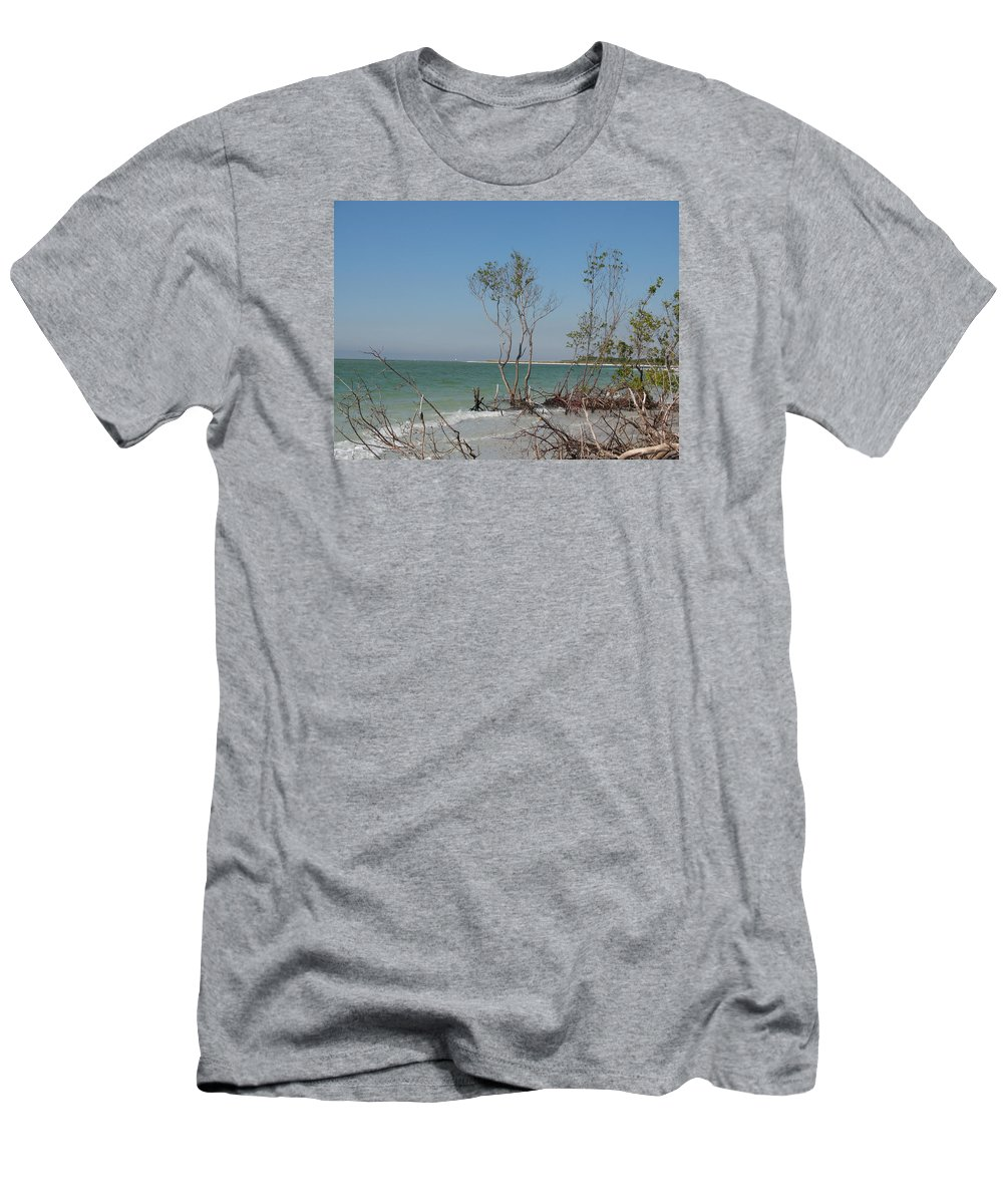 Beach Men's T-Shirt (Athletic Fit) featuring the photograph Fort De Soto Beachview by Christiane Schulze Art And Photography