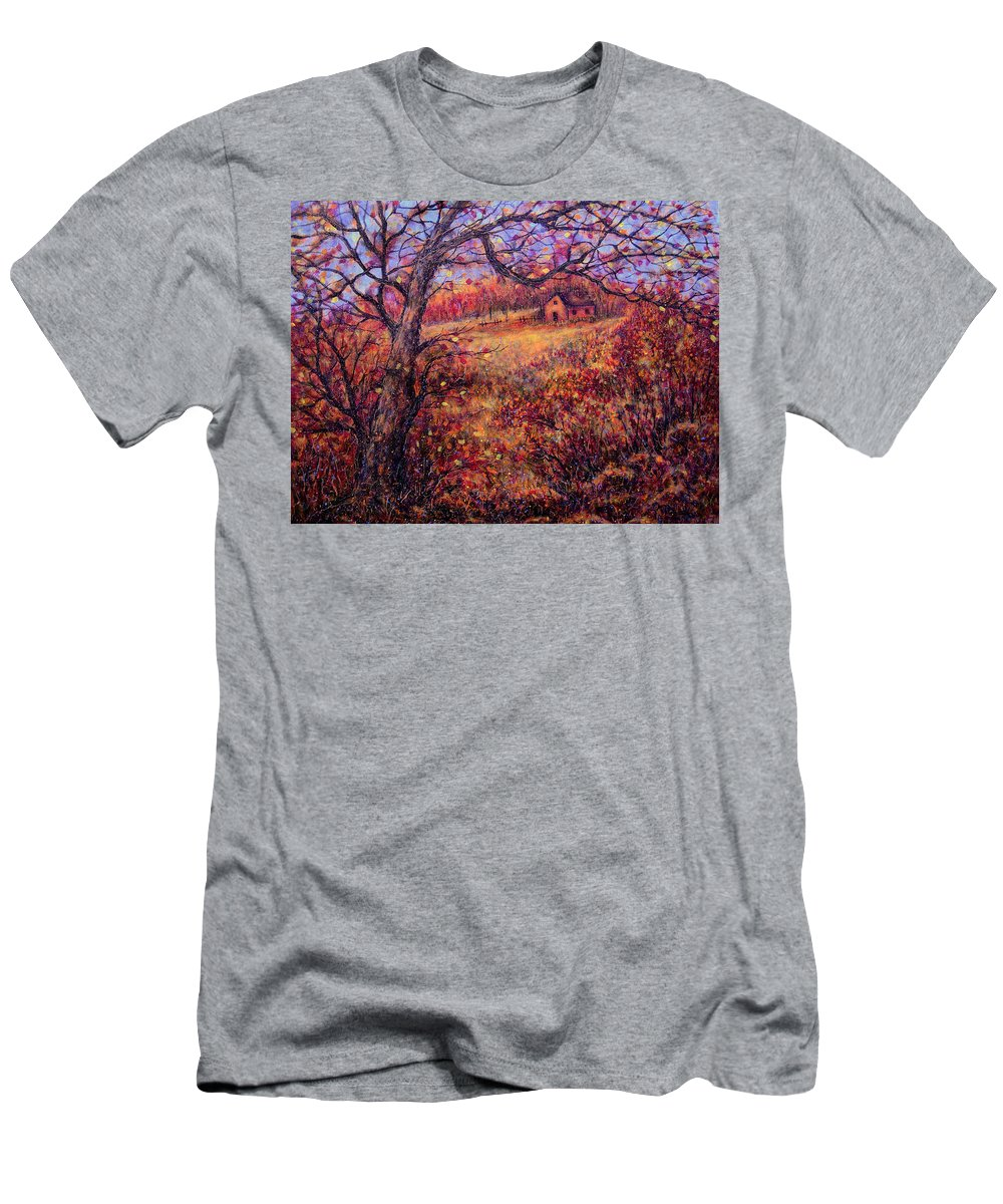 Autumn Men's T-Shirt (Athletic Fit) featuring the painting Beautiful Autumn by Natalie Holland