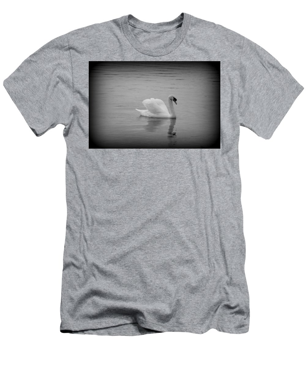 Swan Men's T-Shirt (Athletic Fit) featuring the photograph Beauty And Elegance 2 by Laurie Perry