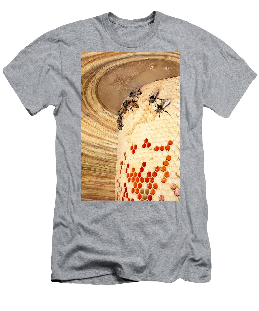 Activity Men's T-Shirt (Athletic Fit) featuring the photograph Bee Hive by Alex Grichenko