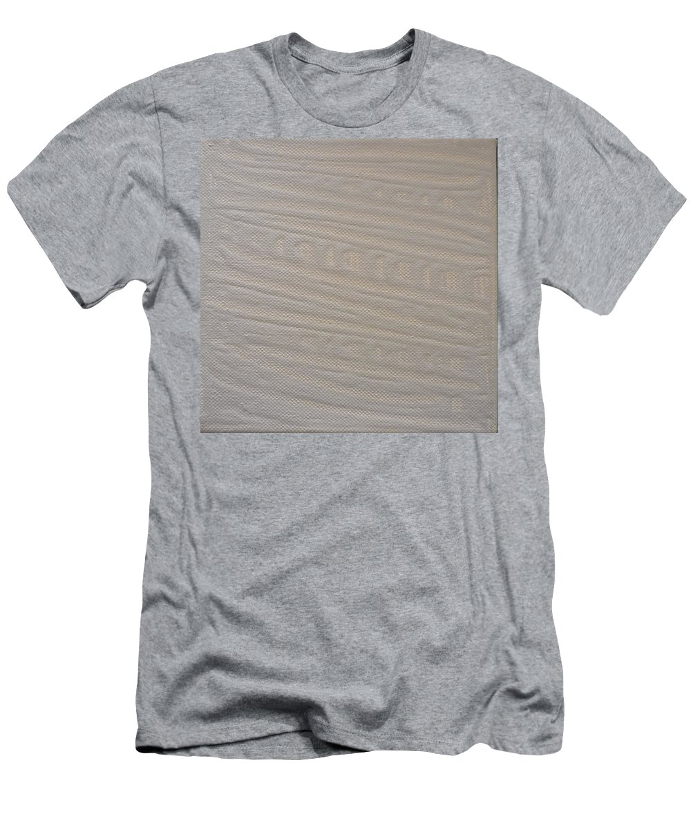 Beige Men's T-Shirt (Athletic Fit) featuring the painting Beige Box by Kimberly Maxwell Grantier
