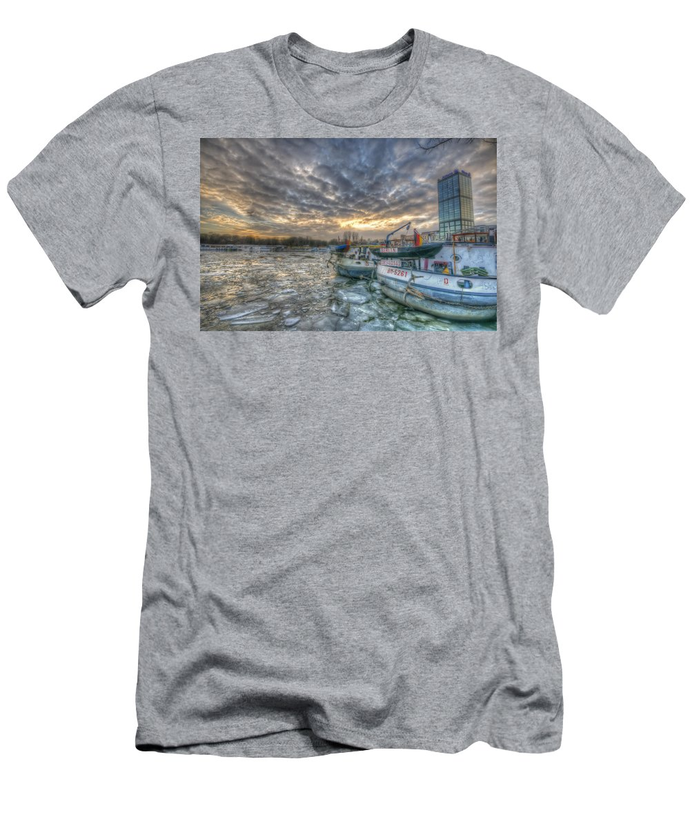 Architecture Men's T-Shirt (Athletic Fit) featuring the digital art Berlin Ships by Nathan Wright