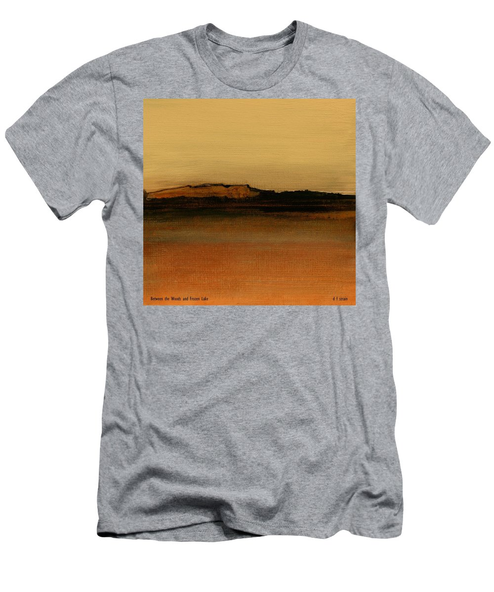 Fineartamerica.com Men's T-Shirt (Athletic Fit) featuring the painting Between The Woods And Frozen Lake  Number Two by Diane Strain