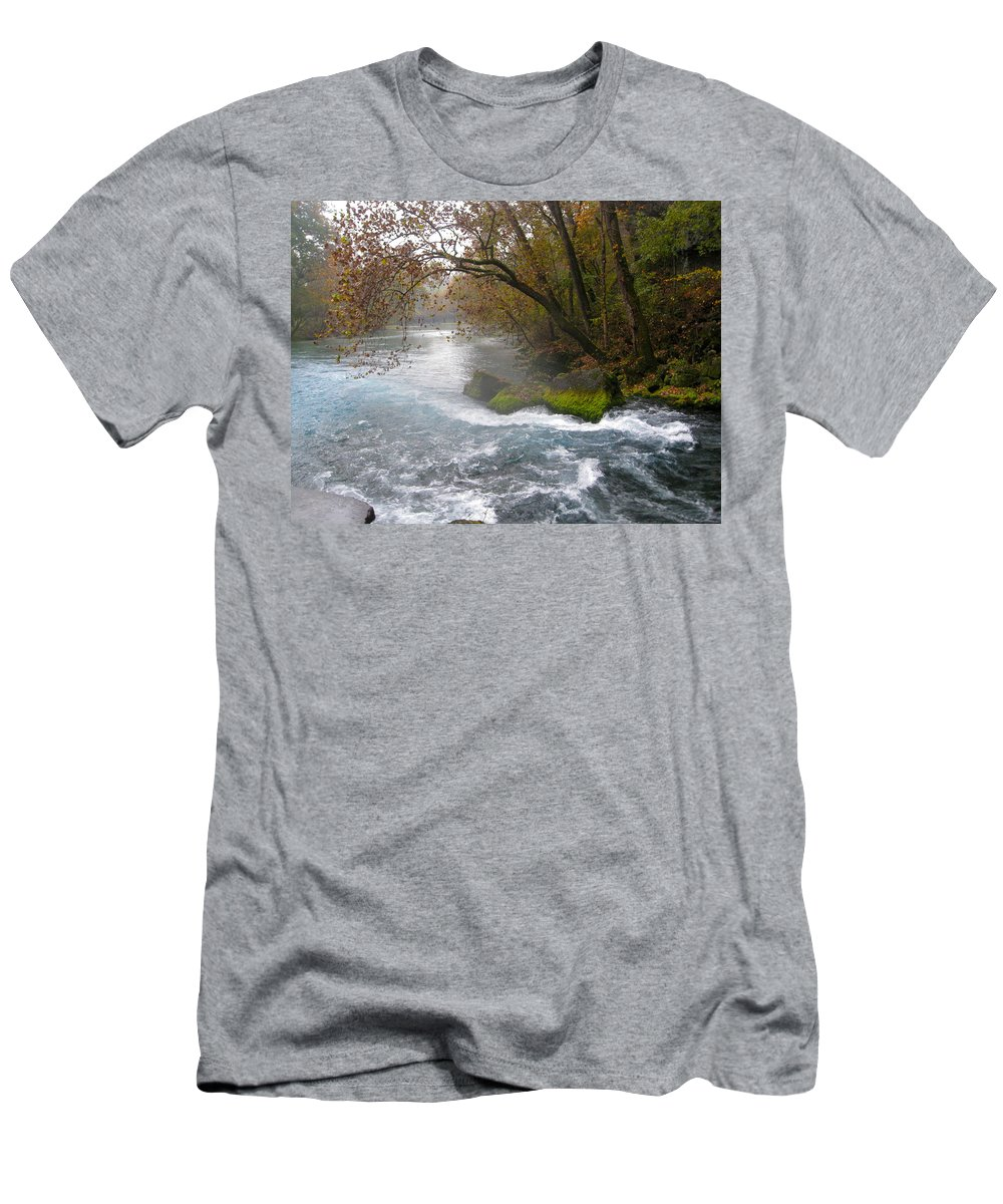 Nature Men's T-Shirt (Athletic Fit) featuring the photograph Big Spring by Noa Mohlabane