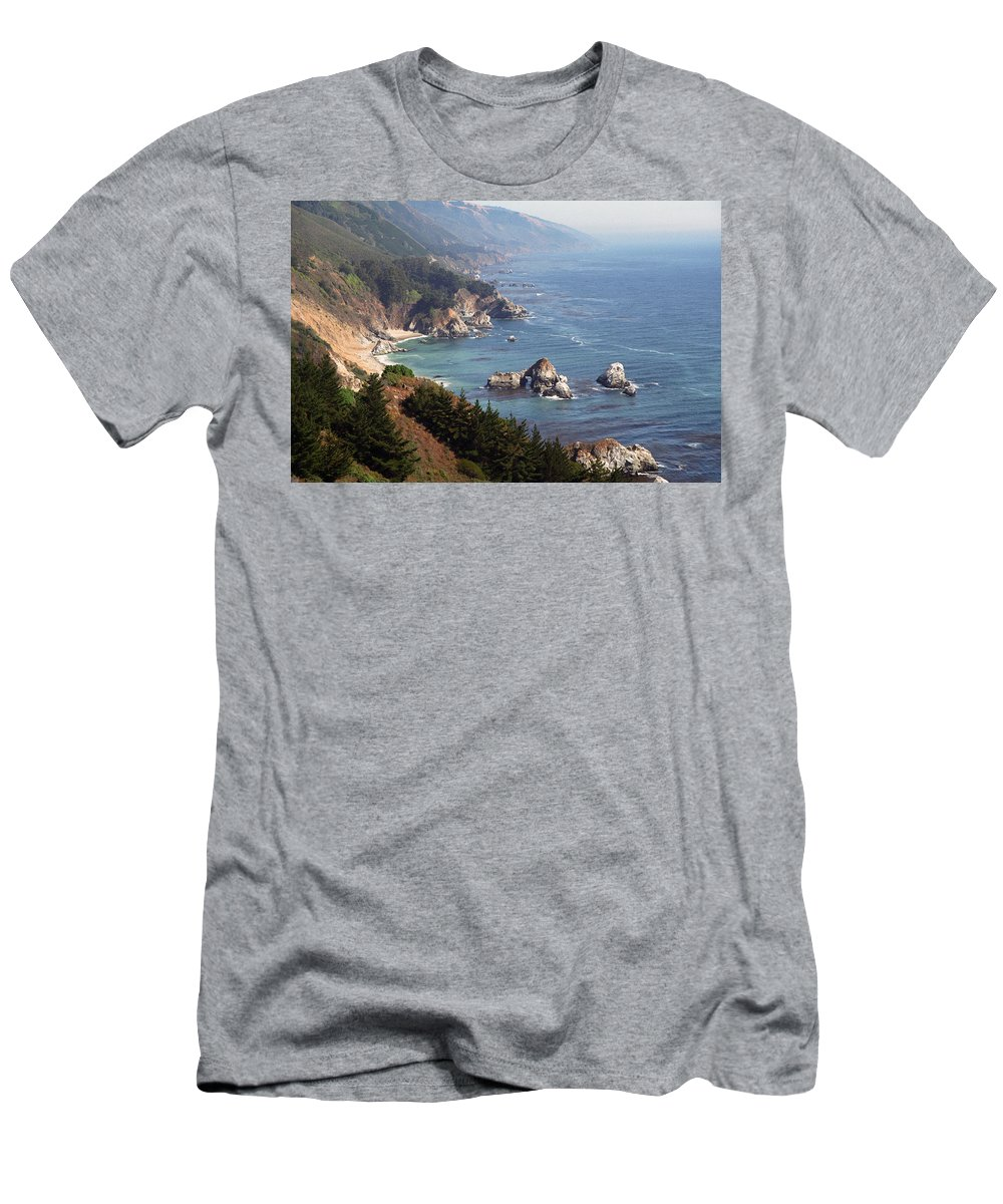Big Sur Men's T-Shirt (Athletic Fit) featuring the photograph Big Sur by Dayne Reast