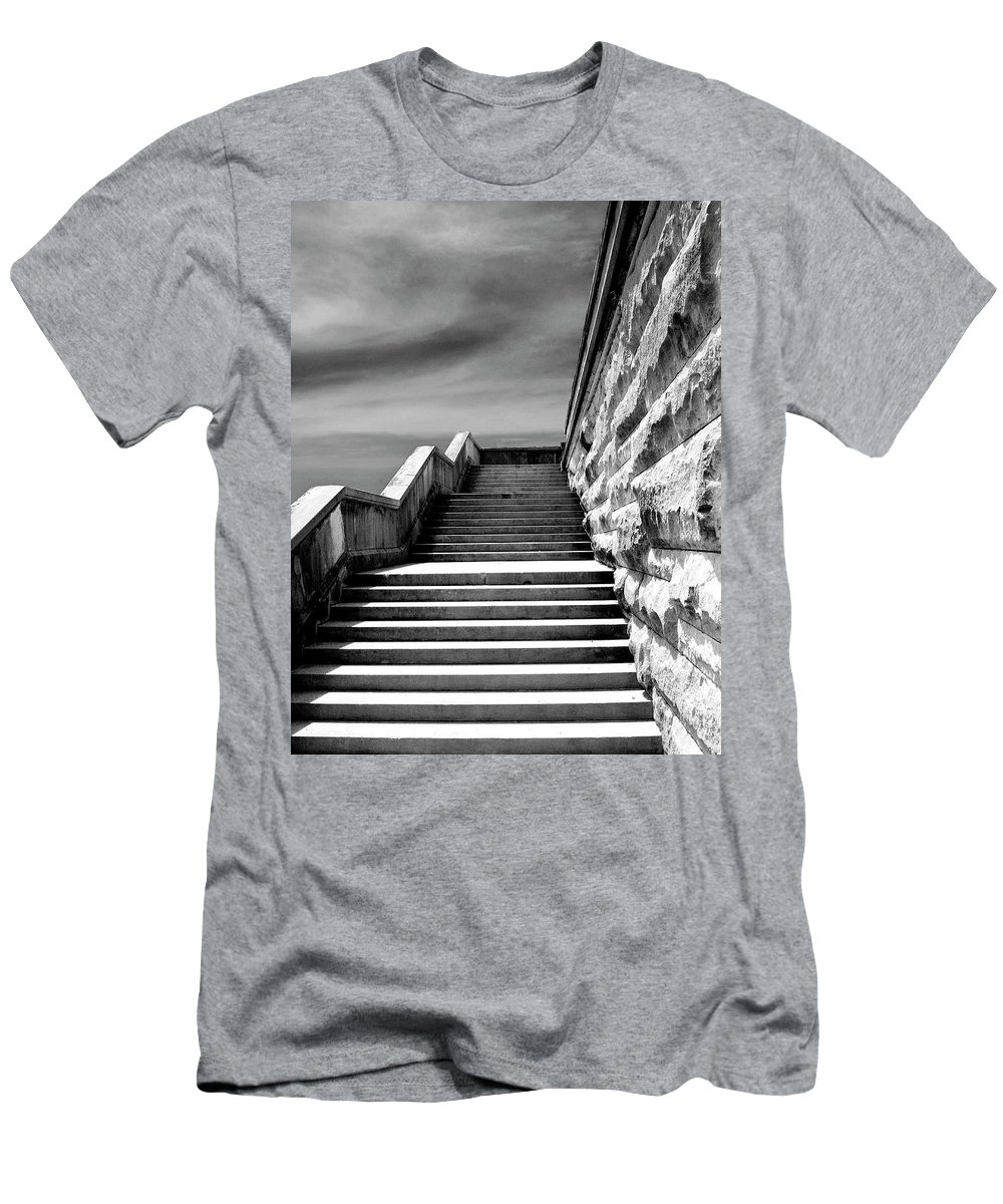 Asheville Men's T-Shirt (Athletic Fit) featuring the photograph Biltmore Stairs Asheville Nc by William Dey