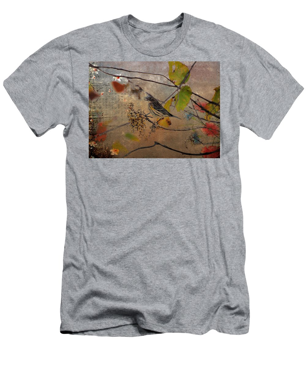 Bird Men's T-Shirt (Athletic Fit) featuring the photograph Bird And Berries by Todd Hostetter