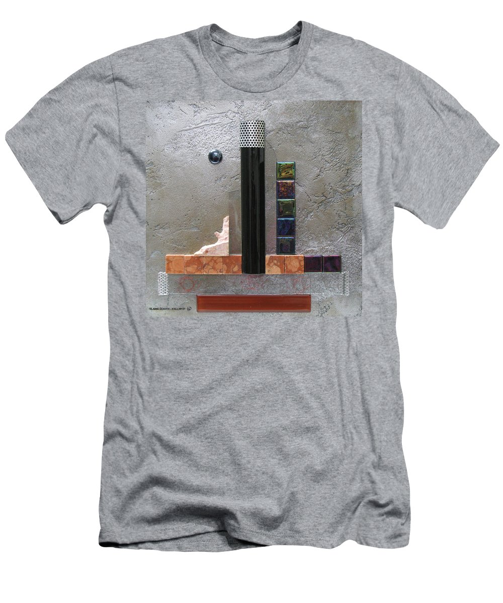 Assemblage Men's T-Shirt (Athletic Fit) featuring the relief Black Tower by Elaine Booth-Kallweit