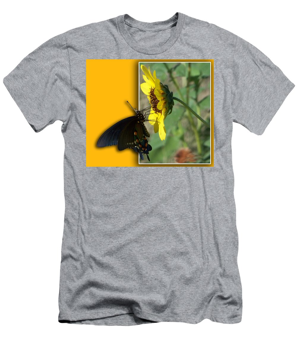 Butterfly Men's T-Shirt (Athletic Fit) featuring the photograph Blank Greeting Card 4 by Leticia Latocki