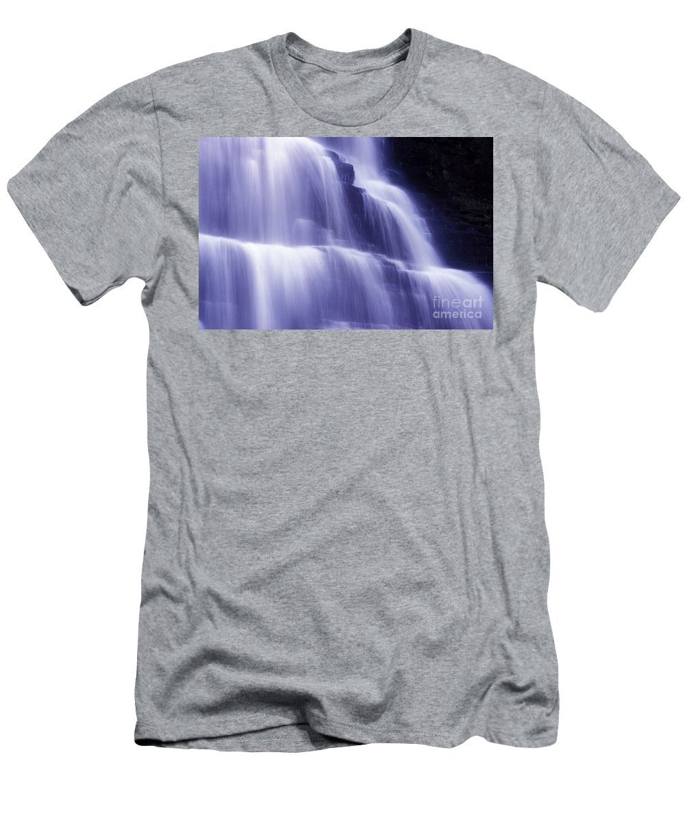 Water Men's T-Shirt (Athletic Fit) featuring the photograph Blue Falls by Paul W Faust - Impressions of Light