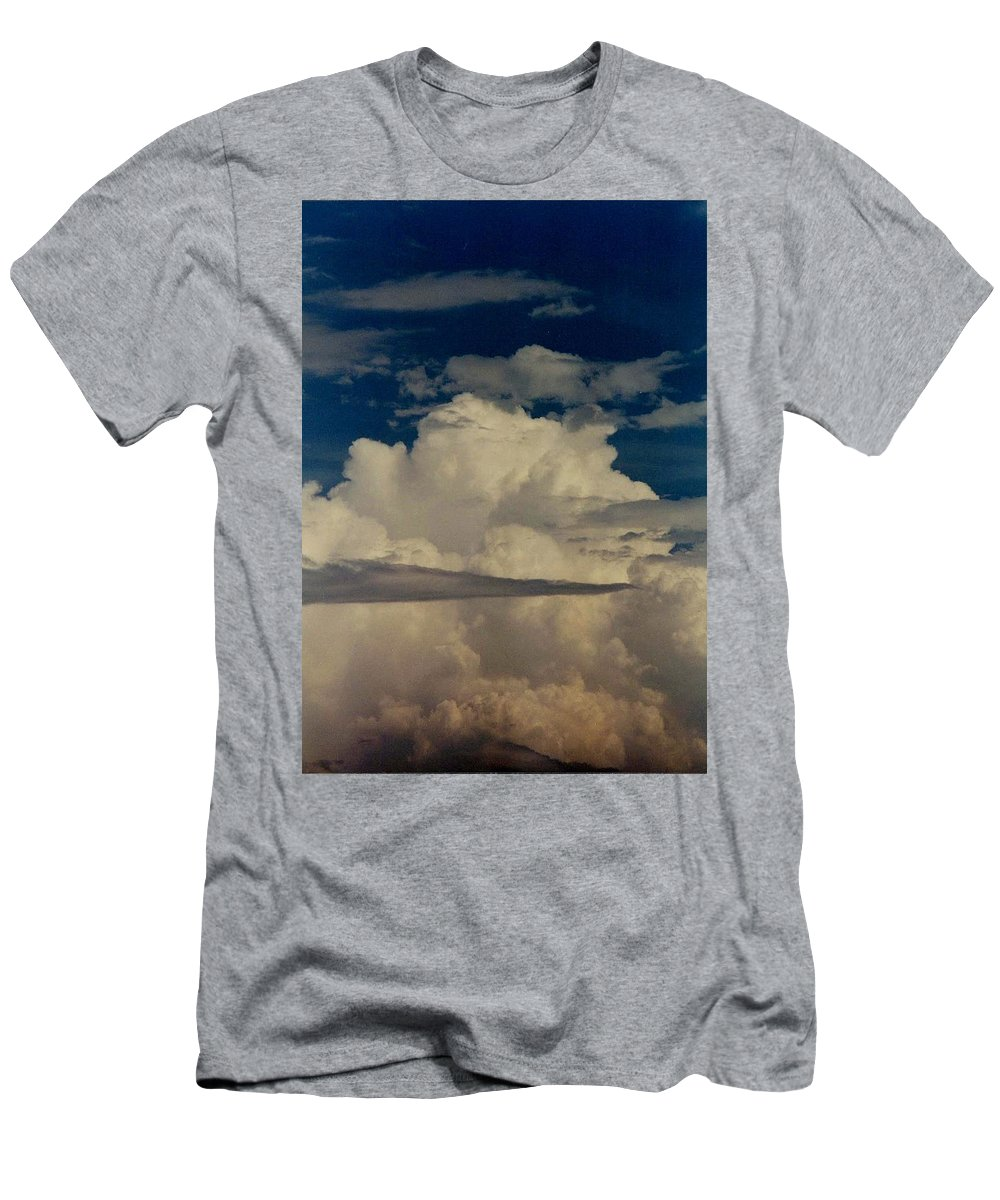 Nature Men's T-Shirt (Athletic Fit) featuring the photograph Blue Skies Of Heaven by Kathy R Thomas