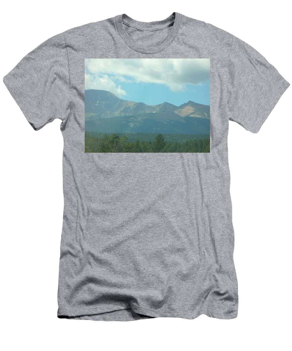 Colorado Men's T-Shirt (Athletic Fit) featuring the painting Blue Sky by Lord Frederick Lyle Morris