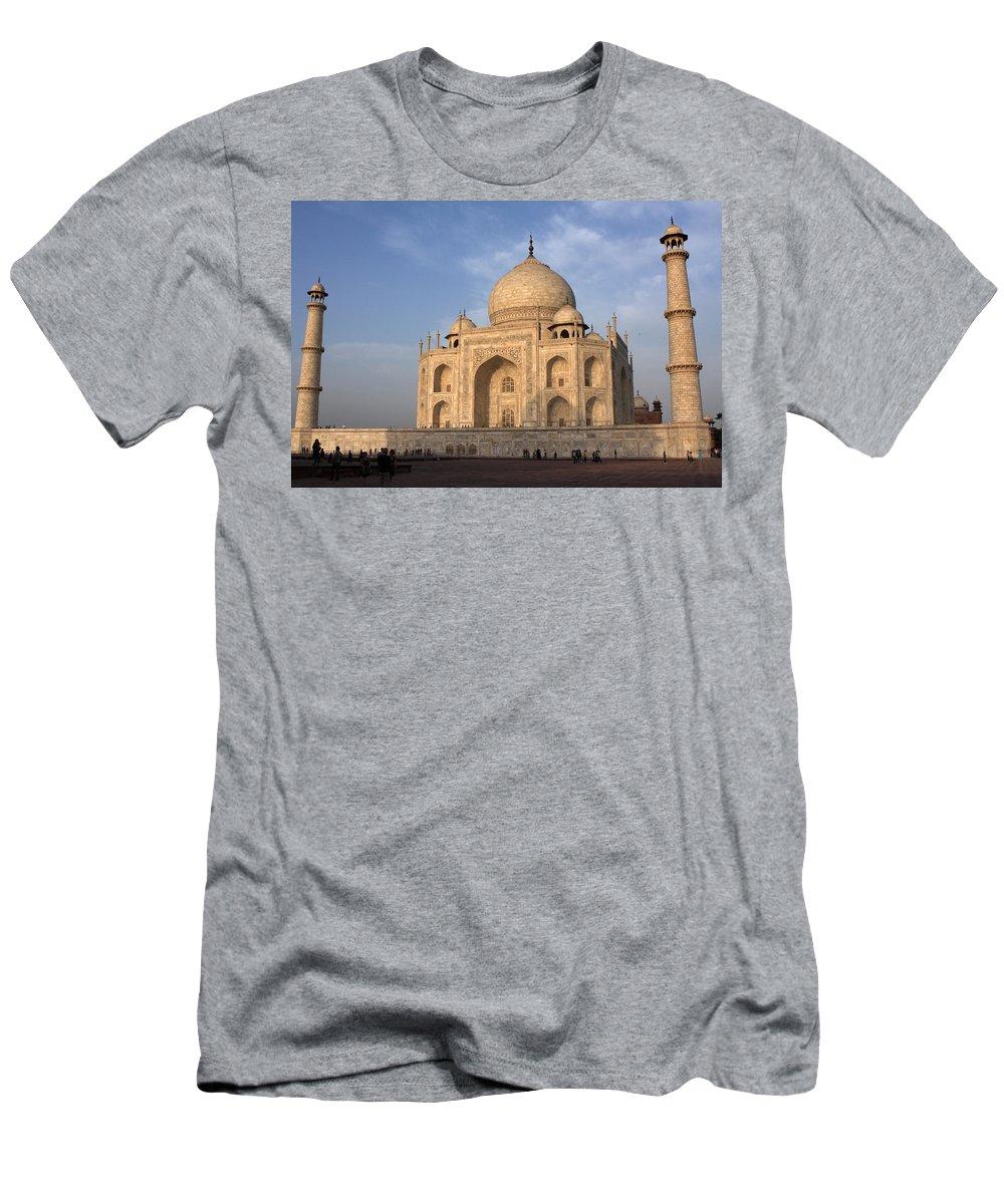 Taj Mahal Men's T-Shirt (Athletic Fit) featuring the photograph Taj Mahal In Evening Light by Aidan Moran