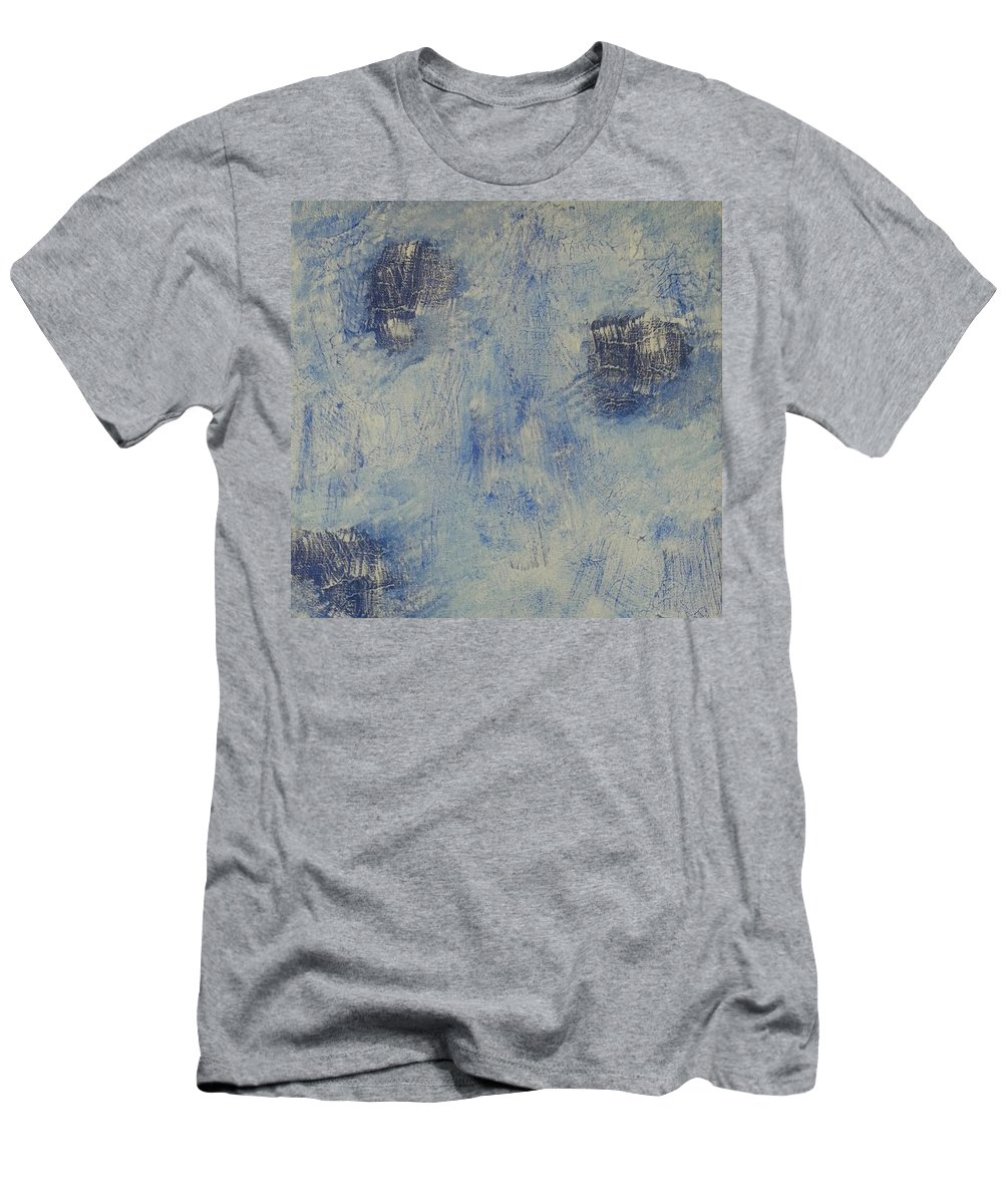 Acrylic Men's T-Shirt (Athletic Fit) featuring the painting Blueish by Mark Barcikowski