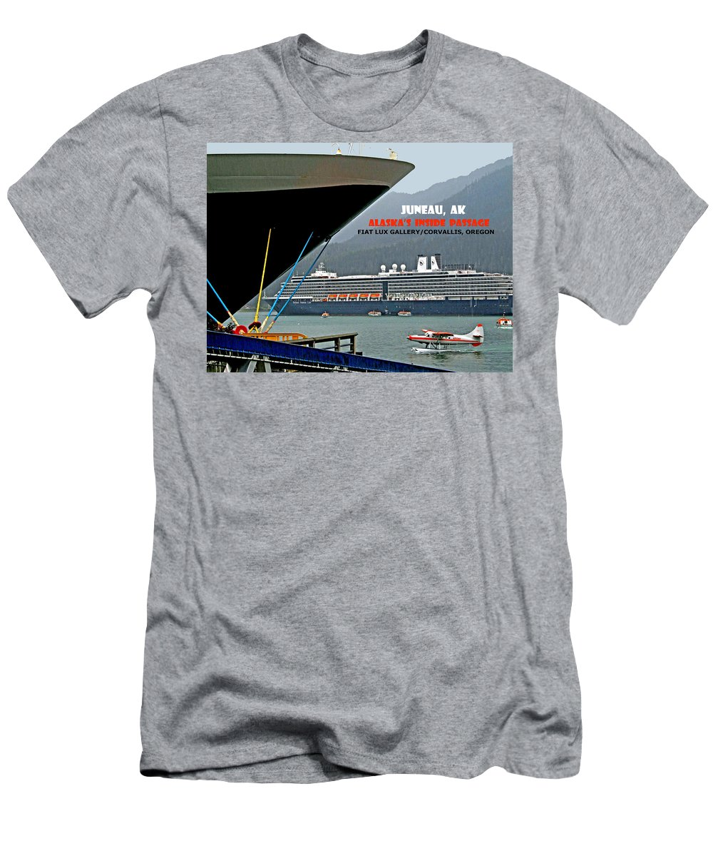 Alaska Men's T-Shirt (Athletic Fit) featuring the photograph Boats And Plane by Michael Moore