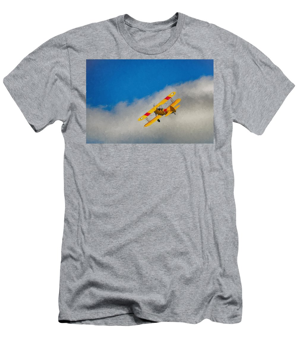 Aviation Men's T-Shirt (Athletic Fit) featuring the photograph Boeing N2s by Guy Whiteley