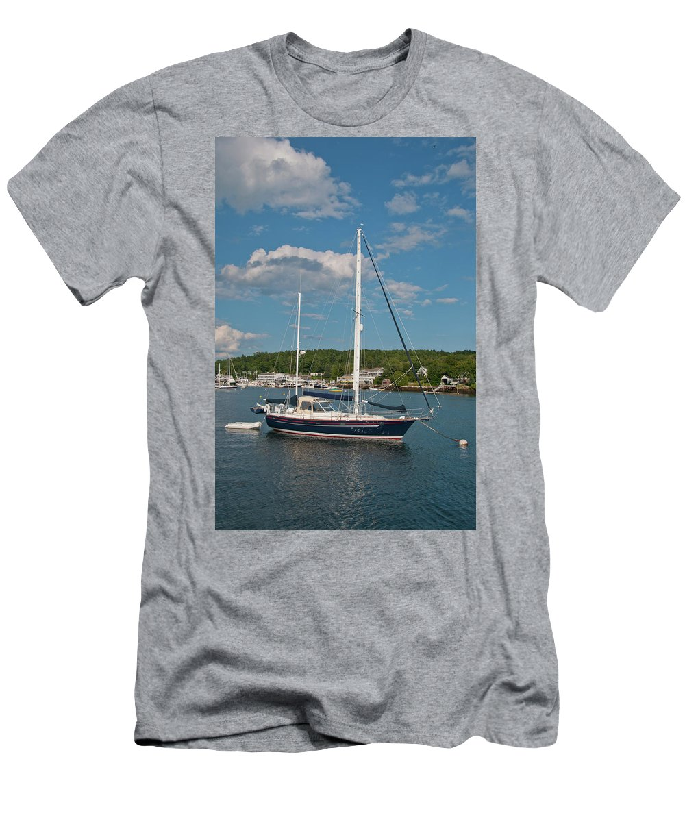 Boat Men's T-Shirt (Athletic Fit) featuring the photograph Boothbay Harbor 1390 by Guy Whiteley