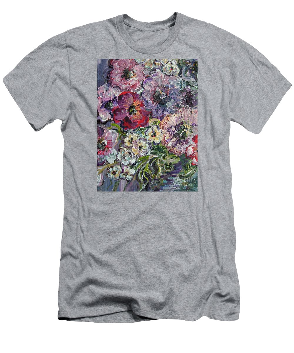 Flower Men's T-Shirt (Athletic Fit) featuring the painting Bouquet Of Sweetness by Eloise Schneider Mote
