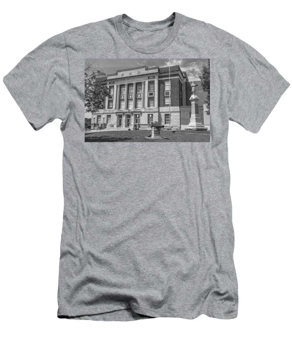 Court Men's T-Shirt (Athletic Fit) featuring the photograph Bourbon County Courthouse 3 by Ken Kobe