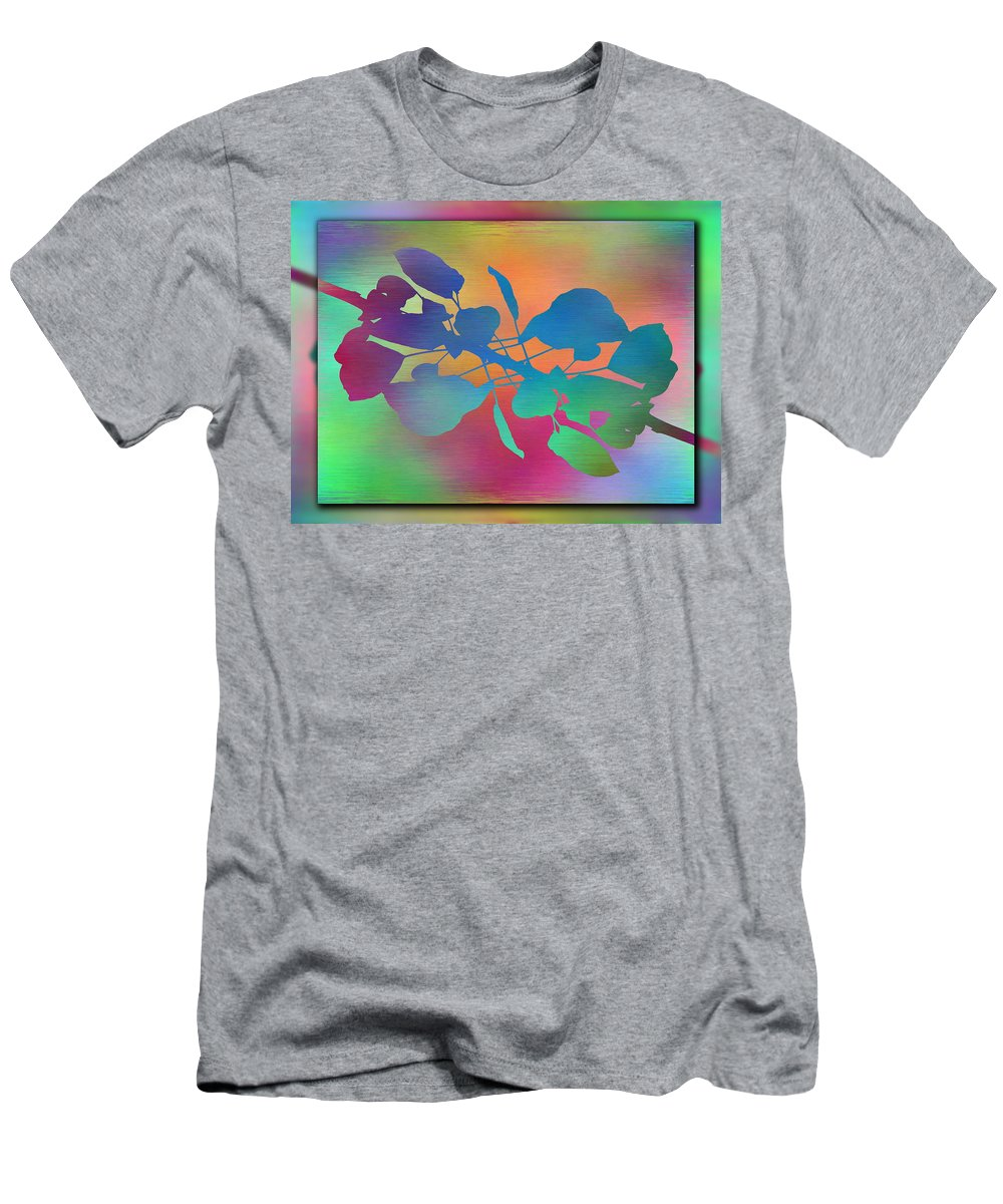 Abstract Men's T-Shirt (Athletic Fit) featuring the digital art Branches In The Mist 37 by Tim Allen